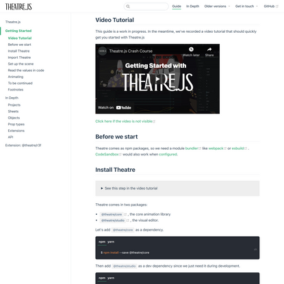 Getting Started | Theatre.js