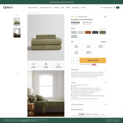 Linen Sheets   Quince