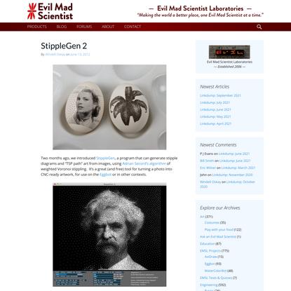 StippleGen 2 | Evil Mad Scientist Laboratories