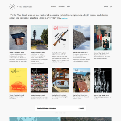 Works That Work — Magazine of Unexpected Creativity