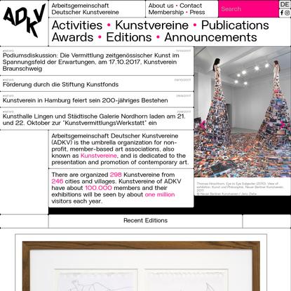 Drupal - Arbeitsgemeinschaft Deutscher Kunstvereine