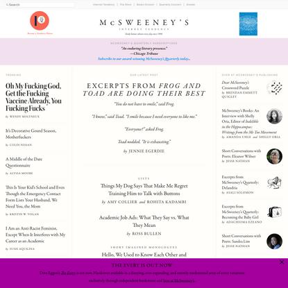McSweeney's Internet Tendency