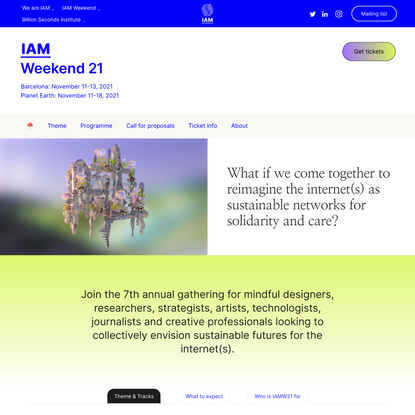 IAM Weekend   Reimagining the digital economy for sustainable futures