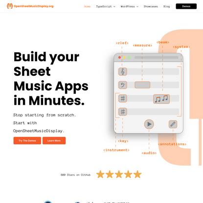 Home - Open Sheet Music Display