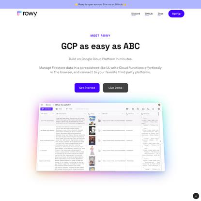 Rowy –GCP as easy as ABC