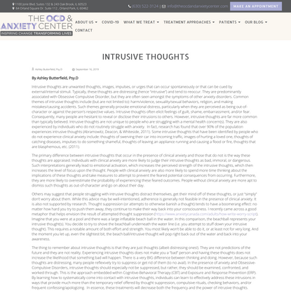 Intrusive Thoughts - The OCD & Anxiety Center