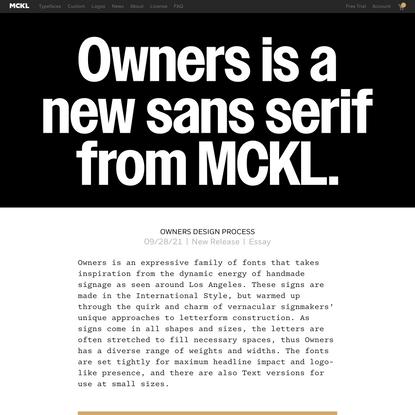 Owners Design Process   MCKL