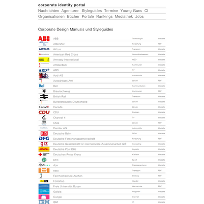 Corporate Design Manuals und Styleguides   Corporate Identity Portal