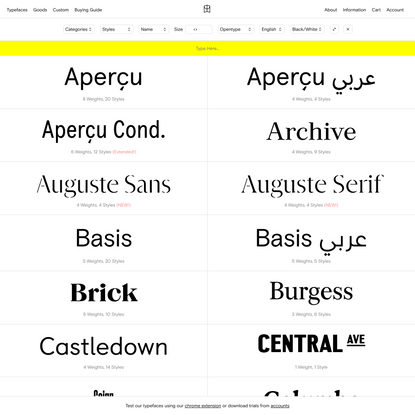 Typefaces — Colophon Foundry