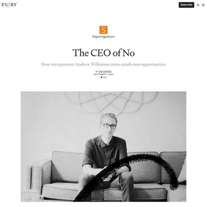 The CEO of No