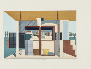 Alternative Landscape, Woodblock Print