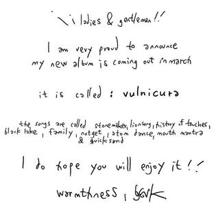 Björk, Vulnicura Announcement, 2015