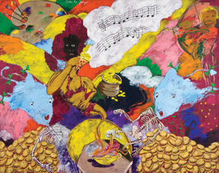 Robert Colescott Ode to Joy (European Anthem), 1997