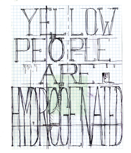 William Pope.L Skin Set: Yellow People Are Hydrogenated, 2008