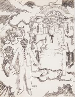 Robert Colescott, Heavenly Host & MLK, 1971