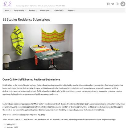 EE Studios Residency Submissions › Eastern Edge Gallery