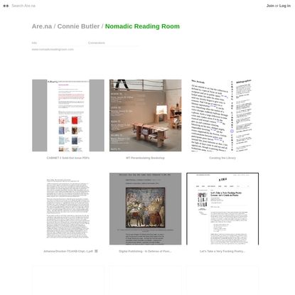 Are.na / Nomadic Reading Room