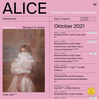 ALICE — Spillested for eventyrlystne lyttere