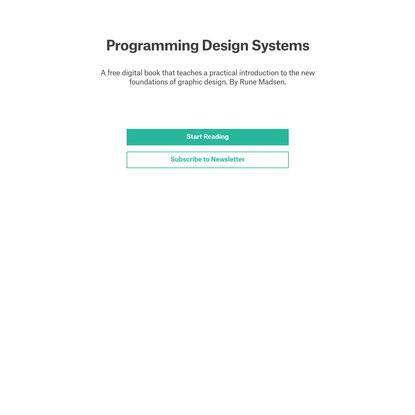 Programming Design Systems
