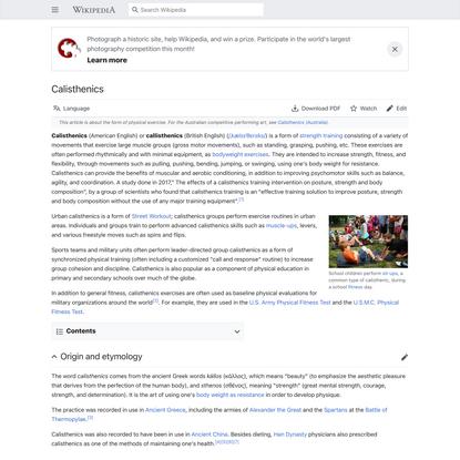 Calisthenics - Wikipedia
