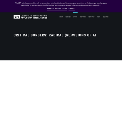 Critical Borders: Radical (Re)visions of AI