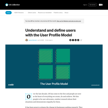 Understand and define users with the User Profile Model