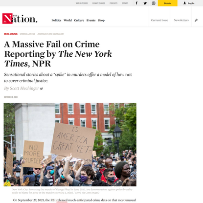 """A Massive Fail on Crime Reporting by """"The New York Times,"""" NPR 