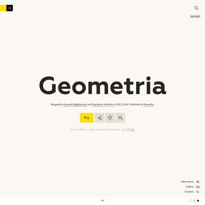 Geometria Font | FontShop