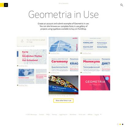 Geometria Font in-use gallery | FontShop