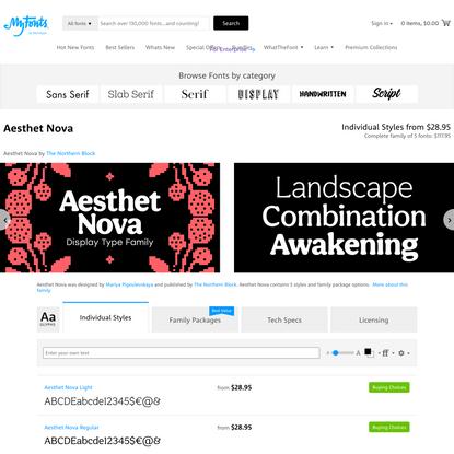 Aesthet Nova | Webfont & Desktop font | MyFonts