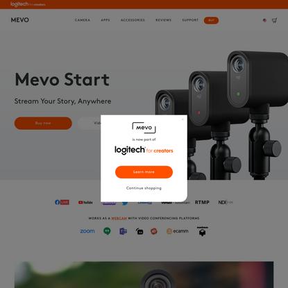 Logitech Mevo Start Camera   Wireless Live Streaming with Ease