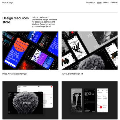 morrre.dsgn — Digital resources for designers