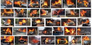 Google image search cars on fire