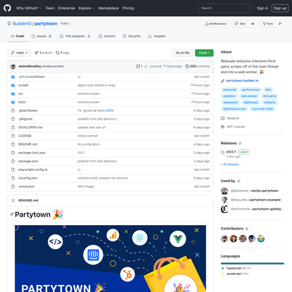 GitHub - BuilderIO/partytown: Relocate resource intensive third-party scripts off of the main thread and into a web worker. 🎉