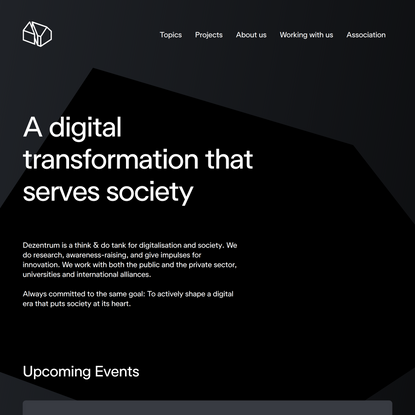 Think Tank for digitalisation and society