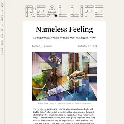 Nameless Feeling — Real Life