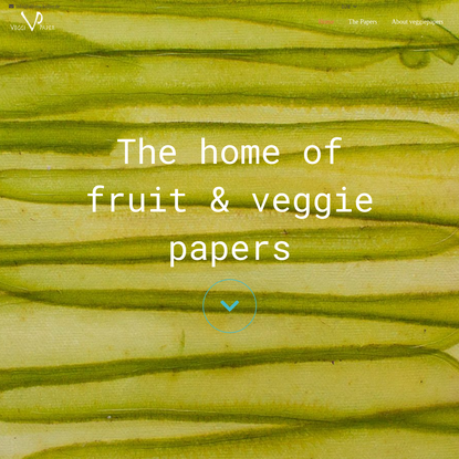 www.veggiepapyrus.de - Papyrus made from Fruits & Vegetables