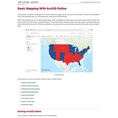 Basic Mapping With ArcGIS Online