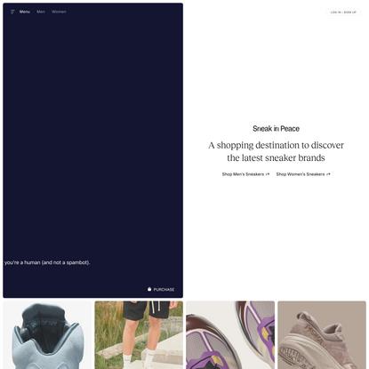 Sneak in Peace - Shop Men's & Women's Premium Sneakers
