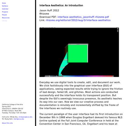 Design for the Net | Interface Aesthetics