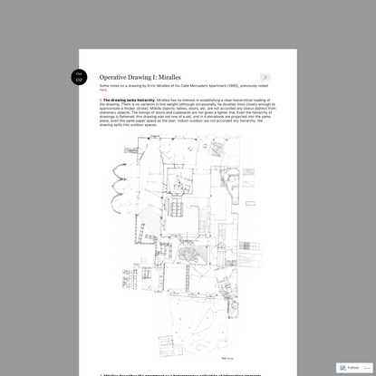 Operative Drawing I: Miralles