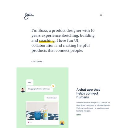 Buzz Usborne - Product Designer & Coach