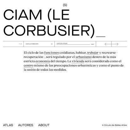 Autores CIAM (Le Corbusier) : Atlas de teoría(s) de la arquitectura