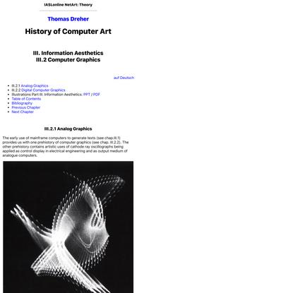IASLonline NetArt: History of Computer Art III.2 Computer Graphics
