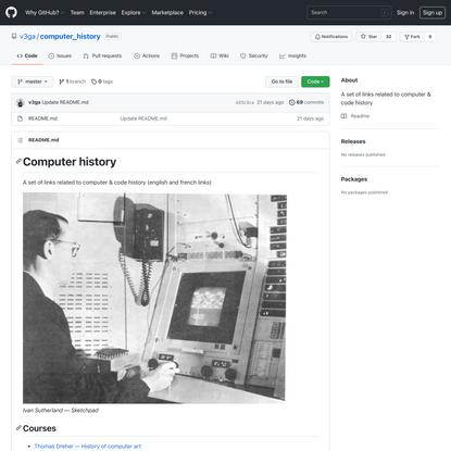 GitHub - v3ga/computer_history: A set of links related to computer & code history