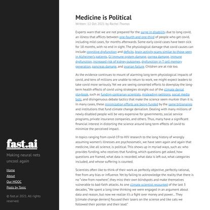 Medicine is Political