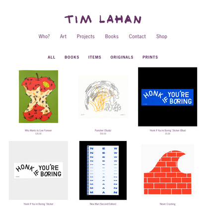 Shop — Tim Lahan