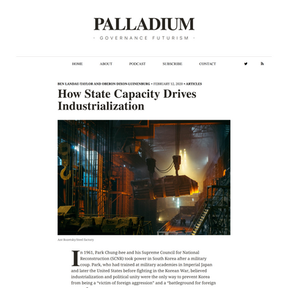 How State Capacity Drives Industrialization