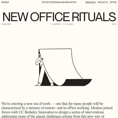 New Office Rituals — MODEM