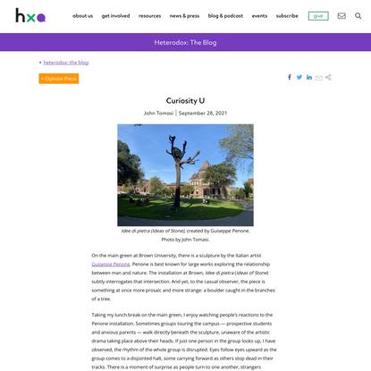 Curiosity U - Heterodox Academy | Heterodox Academy